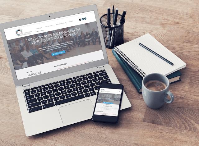 Responsive Website Netzwerk Regio