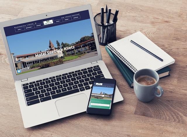 Responsive Website Seeblick Klietz